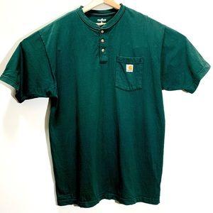 Carhartt 3 button Henley short sleeve shirt L